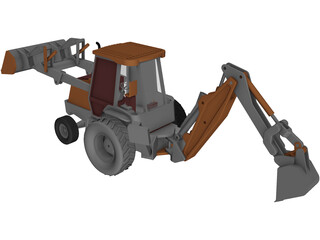 Loader Backhoe 3D Model