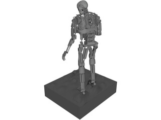 T800 Endoskeleton 3D Model