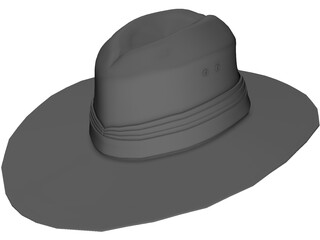 Aussie Hat 3D Model