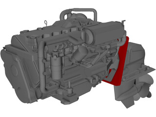 Yanmar Diesel Engine 3D Model