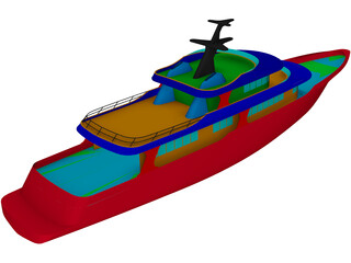 Super Yacht 155feet 3D Model