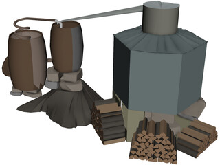 Moonshine Still 3D Model