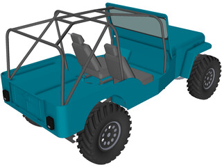 Jeep Willys Long (1945) 3D Model