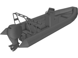 Raptor Rigid Inflatable Boat (Rib) 6.95m 3D Model