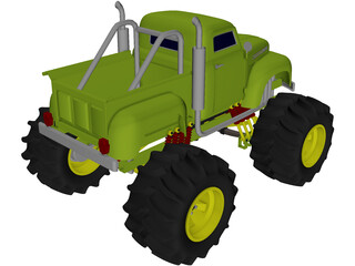 Ford Pickup Big Foot Monster 3D Model