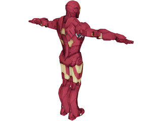Iron Man Low Poly 3D Model