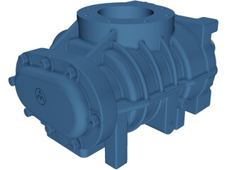 Screw Compressor 3D Model