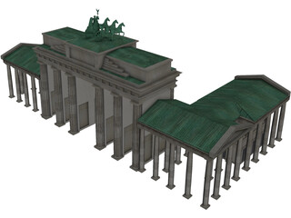 Brandenburg Gate Berlin 3D Model