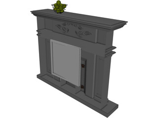 European Fireplace 3D Model