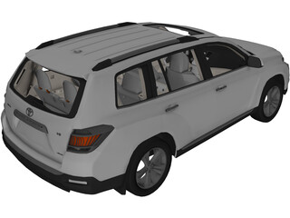 Toyota Highlander (2012) 3D Model