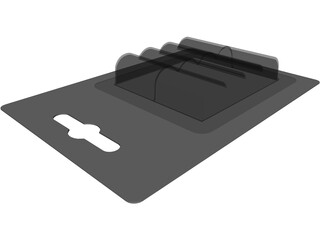 Battery Blister Pack 3D Model