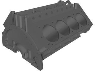 Arias Big Block Hemi Engine Block 3D Model