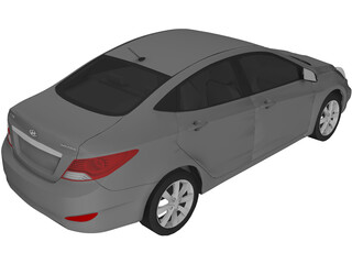 Hyundai Solaris (2012) 3D Model