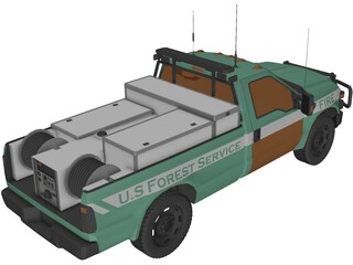 Ford F-150 US Forest Service 3D Model