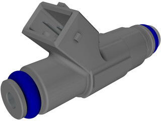 Bosch Fuel Injector 3D Model