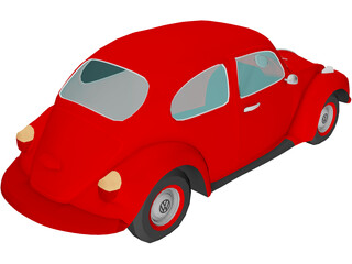 Volkswagen Super Beetle 3D Model