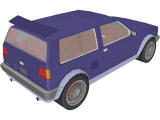 Volkswagen Golf II [Tuned] (1986) 3D Model