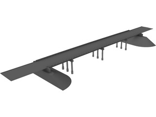 US 69 Highway Central Ave Bridge (Linn County, Kansas) 3D Model