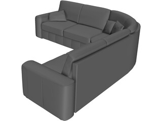 Sofa Indigoran Iden 3D Model