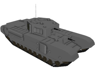 Churchill Mk IV 3D Model