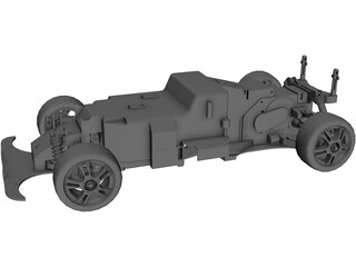 RC Car Chassis 3D Model