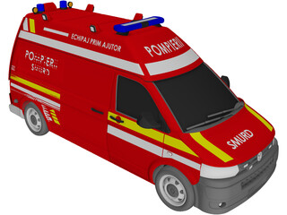 Volkswagen Transporter T5 Ambulance (2013) 3D Model