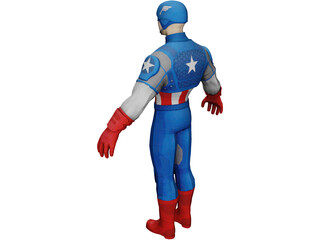 Captain America of the Avengers 3D Model
