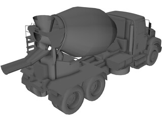 Cement Mixer Truck 3D Model