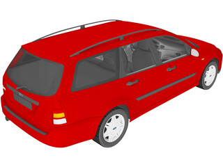 Ford Focus Wagon (1998) 3D Model
