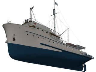 Tuna Clipper 3D Model