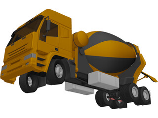 Euro Cement Mixer 3D Model