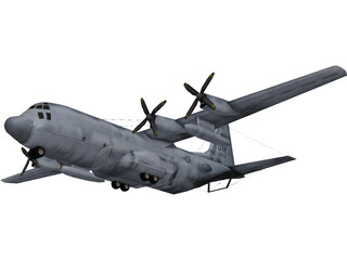 Lockheed EC-130H Compass Call 3D Model