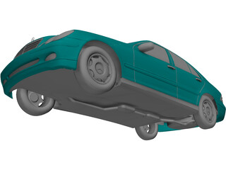 Mercedes-Benz C-class (2001) 3D Model