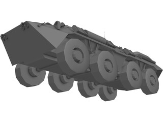 BTR-80 Armored Personnell Carrier 3D Model