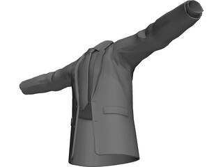 Shirt Tie and Suitcoat 3D Model