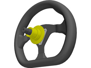 Race Car Steering Wheel (10 Inch For Small Formula Car) 3D Model