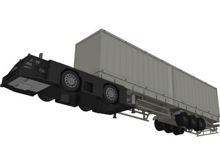 Airplane Truck 3D Model