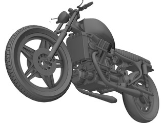Honda CX500 Custom Cafe Racer 3D Model