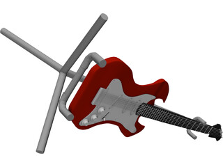 Electric Guitar 3D Model