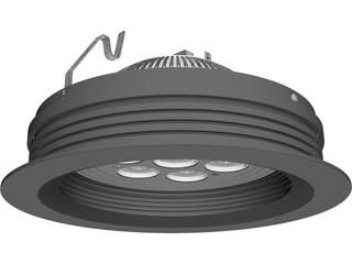LED Recessed Ceiling Fixture 3D Model