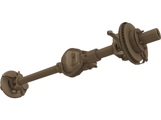 Ford High Pinion Dana 44 Front Axle 3D Model