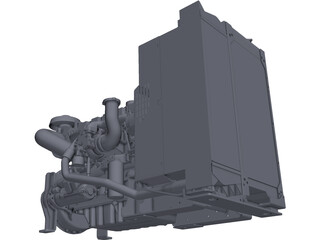 Cat C6.6 Engine 3D Model