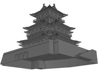 Chinese Castle 3D Model