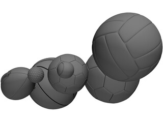 Balls Collection 3D Model