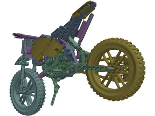 Lego Motorcycle 3D Model