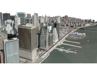 New York City Lower Manhattan 3D Model