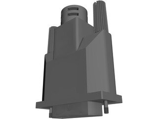 DVI Connector 3D Model