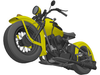 Harley-Davidson Knucklehead (1947) 3D Model