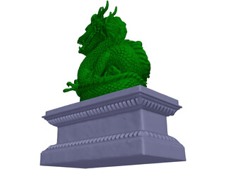 Chinese Dragon Statue 3D Model