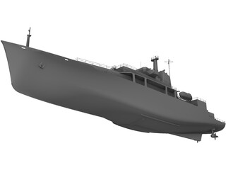 Survey Vessel 3D Model